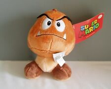 "Goomba Plush Nintendo Super Mario Brothers Bros 6"" Stuffed Animal Mushroom New"