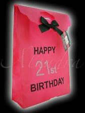 Pink 21st Happy Birthday Diamante Gift Bag Girls Night Out