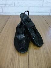 KUMFS Heels Sz 35 Black Suede Leather
