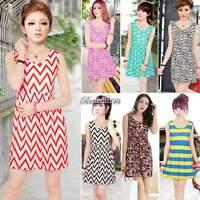 Summer Women Casual Dresses Sleeveless Cocktail Short Mini Dress Excellent