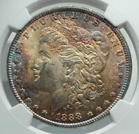 1888 UNITED STATES of America SILVER Morgan US Dollar Coin EAGLE NGC MS i78875