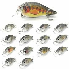 1PCS lifelike Fishing Lure Floating Crank Crankbait casting trolling 8cm/17.5g