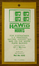 2 PACKS OF HAWID MOUNTS 127MM  X 70MM - CLEAR    FREE SHIPPING       #HAW-12770C