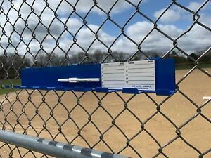 Baseball/Softball Durable Steel Bat Rack Holder for 8 Bats (Royal Blue)