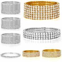 Hot Fashion Rhinestone Stretch Bracelet Bangle Wristband Wedding Bridal Jewelry