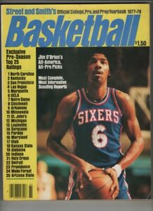 Street & Smith's Basketball Yearbook Julius Erving 1977-78 082720nonr