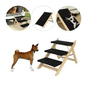 Pet Stairs Folding Convertible Indoor Outdoor Steps Ramp Cat Dog Portable Ladder