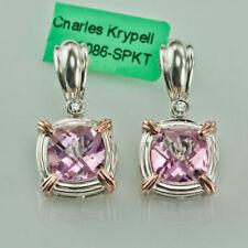 Orecchini di lusso rosa, diamante naturale