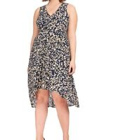 Rebel Wilson X Angels Sleeveless Minor Camo Georgette Shift Dress Size 18W
