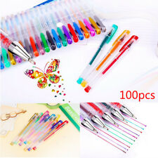 Ship 100Colours Large Set Gel Pens Art Books Markers Glitter Neon Metallic+ Gift