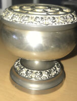 LANTHE OF ENGLAND SILVER PLATED POSY VASE FLOWER BOWL LOVELY CONDITION