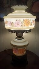 Large Victorian gwtw Table Hurricane flowers Parlor Banquet Ruffle Shade Lamp