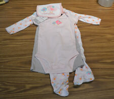 Carter's Girls' 4pc BABY Outfit/Set-PINK I LOVE AUNTIE-9 Months-NWT