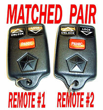 MATCHED PAIR OEM DODGE JEEP GRAND CHEROKEE KEYLESS REMOTE ENTRY FOBS TRANSMITTER