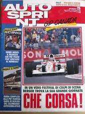 Autosprint 25 1992 Didier Auriol - Gerard Berger vince Gp Canada -  [SC.50]