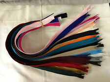 """1 X 22"""" (56cm)YKK NYLON CONCEALED CLOSED-ENDED ZIPS AVAILABLE IN VARIOUS COLOURS"""