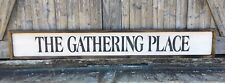 The Gathering Place, Gathering Place Sign, Framed Wood Sign, Rustic Home Decor