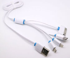 US SHIP 4 in 1 Multi USB Charger Charging Cable Cord For Cell Phone Power bank