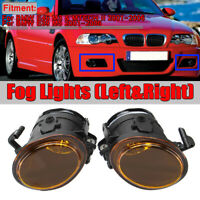 Replacement Amber Fog Lights Without Bulbs For BMW E46 M3 MTECH 2 & E39 M5 01-06
