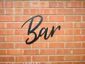 BAR   Metal lettering,  Garden, Beer
