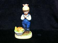 Vintage 1985 Homco Denim Days Porcelain Figurine #1506 Time For Thanks Retired