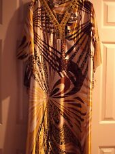 womans clothing  CAFTDAN. ONE SIZE FITS MOST. GREAT COLOURS W/ JEWELED NECK LINE
