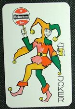 1 x Joker playing card single swap Heineken Beer ZJ846
