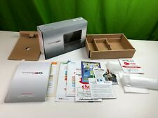 Cosmo Black Nintendo 3DS System Console BOX & INSERTS ONLY