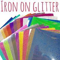 Glitter HTV - Iron On Glitter - Heat Transfer Vinyl - 39 colours