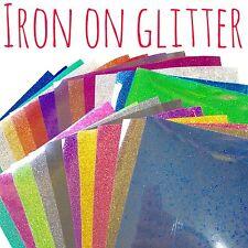 Glitter HTV - Iron On Glitter - Heat Transfer Vinyl - 39 colours, sheet or metre