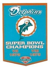 THE MIAMI DOLPHINS 1972 & 1973 SUPER BOWL CHAMPION FRIDGE MAGNET