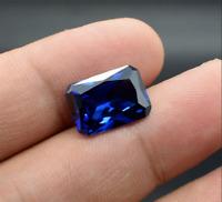 Unheated Blue Tanzanite 10x12mm 7.89Ct Emerald Cut Shape AAAAA VVS1 Loose Gems