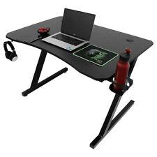 Computertisch GamingTisch Schreibtisch Z-förmige PC tisch mit Getränkehalterung