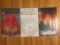 Leviathan # 1 Covers A and B and 1:10 Image Layman Cover