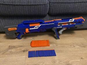 Nerf N-Strike BLUE Longshot Sniper Gun Magazine Scope & Ammo