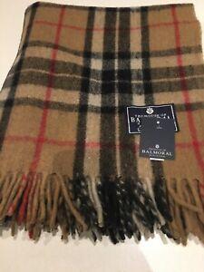 House Of Balmoral Wool Rug Blanket Camel Thomson Tartan Check Best Seller