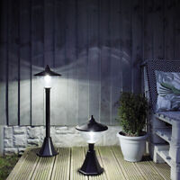 Solar Power Outdoor Garden Security Dome LED Lamp Post Welcome Wall Light