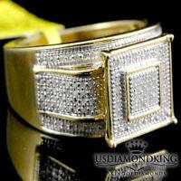 BIG BOLD LADIES MICRO PAVE GENUINE REAL DIAMOND ENGAGEMENT BRIDAL RING BAND NEW