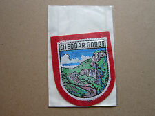Cheddar Gorge Woven Cloth Patch Badge
