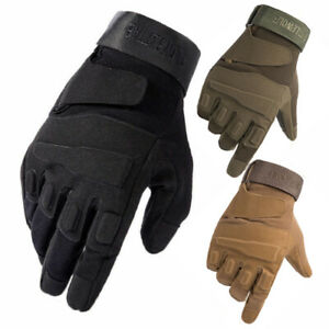 Tactical Full Finger Gloves Knuckles Men's Army Military Hunting Combat Airsoft