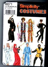 Simplicity 8871 Adult Halloween Costume Pattern Uncut Misses Teens Mens XS - XL