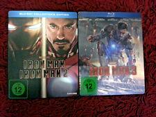 Iron Man 1+2 Collectors & Iron Man 3 Blu-Ray Steelbook Trilogie Marvel limited