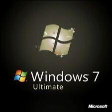 Microsoft Windows 7 Ultimate 32/64bit Genuino clave de licencia código del producto