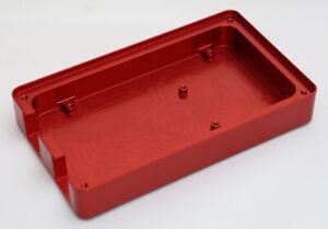 Custom Made CNC Machined Aluminium Red Anodised Arduino Mega Compatible Case