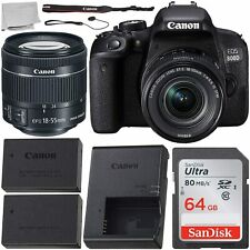 Canon EOS 800D / T7i 24.2MP DSLR Camera with 18-55mm Lens All You Need 64GB Kit