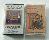 Lot of 2 Cassette Tapes Player Piano Music ~ Music Box & Please Don't Shoot The