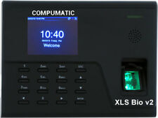 Compumatic Xls Bio V2 Biometric Fingerprint Time Clock System Rb With Wifi Tcpip