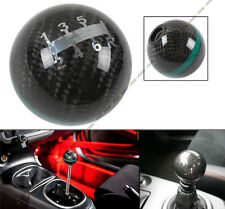 M12 X 1.25 ROUND CARBON FIBER MANUAL 6 SPEED SHIFT KNOB GREEN STRIP FOR TOYOTA