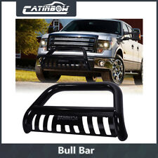 Stainless Steel Bull Bar Bumper Grille Guard w/ Skid Plate For 04-18 Ford F-150