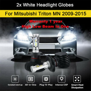 For 2013 2014 Mitsubishi Triton MN Headlight Globes High Low Beam LED Bulb kit